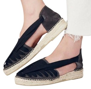 Free People Seville Espadrilles 9 Charcoal/Black New In Box Sandals