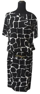 Roberto Cavalli short dress Black, white, animal pattern on Tradesy