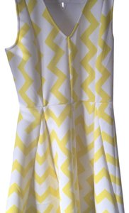Julie Brown short dress White & yellow on Tradesy