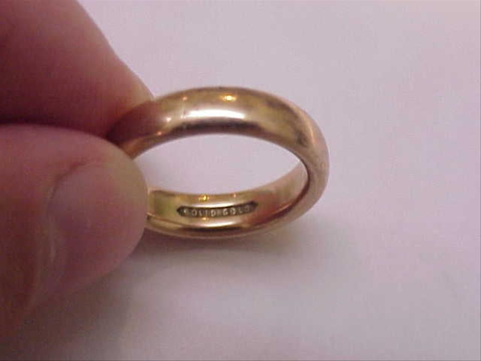 Estate 14k Yellow Gold Wedding Band Comfort Fit 5mm 2 Thick Round Size 6 1 Ring Tradesy