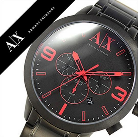 A|X Armani Exchange ARMANI EXCHANGE WATCH AX1352 ATLC BLACK ION STAINLESS 49MM