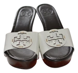 95c1468b884f Tory Burch Patten Leather Wedge Studded Side Detail white Mules