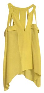 BCBGMAXAZRIA Top Neon Yellow