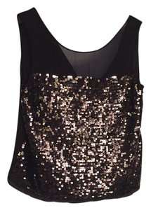BCBGMAXAZRIA Sequin Top