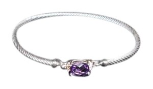 David Yurman David Yurman Petitie Wheaton Amethyst and Diamond Bracelet 3mm, Medium