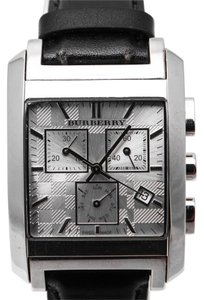 Burberry Burberry BU1560 Square Silver Chronograph Dial Watch