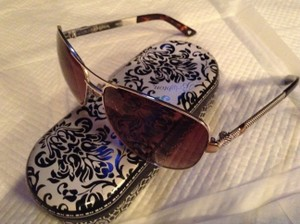 Brighton Brighton Handmade Gold and Silver Sunglasses Engraved Detail on Legs
