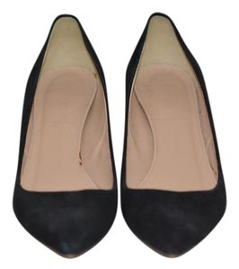 J.Crew Dulci Suede Kitten Heel Black Pumps