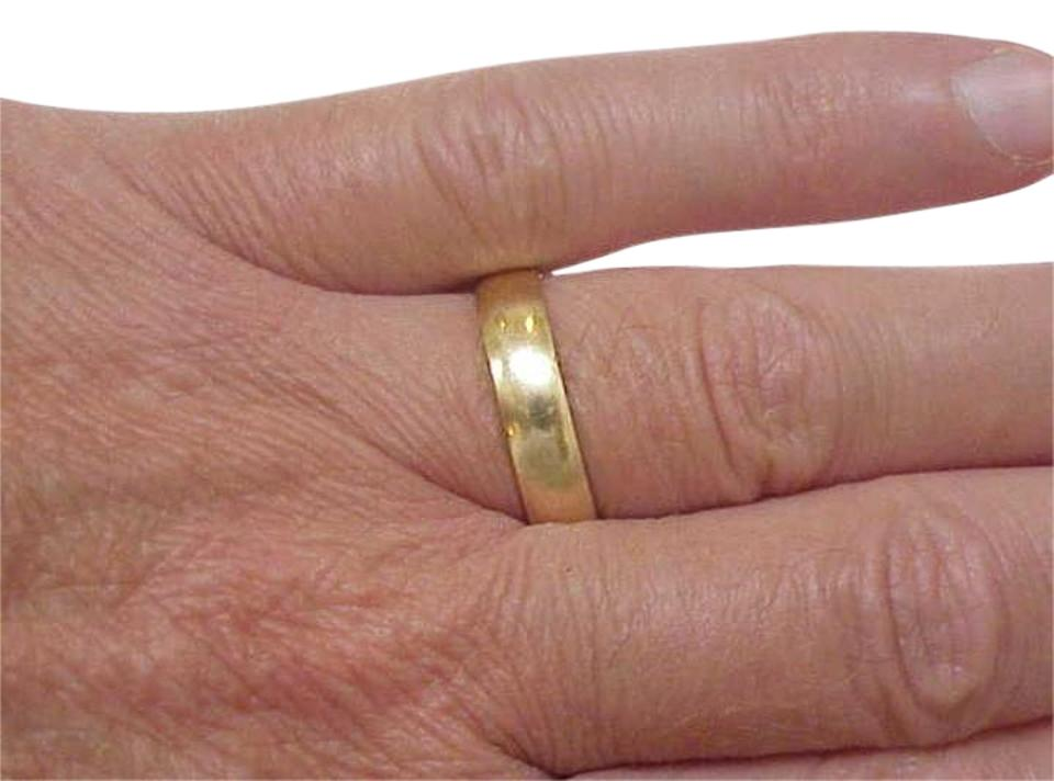 Estate Design 14k Yellow Gold Wedding Band 6mm 1 5mm S 10 2 Ring Tradesy