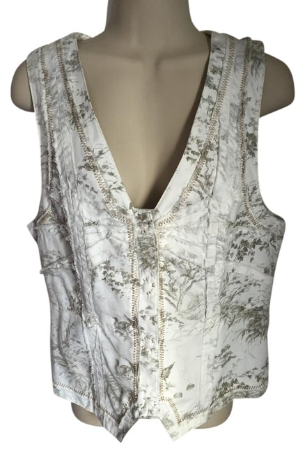 Item - Cream Browns and Greys Hei Hei Tussle Bustle Vest Size 8 (M)