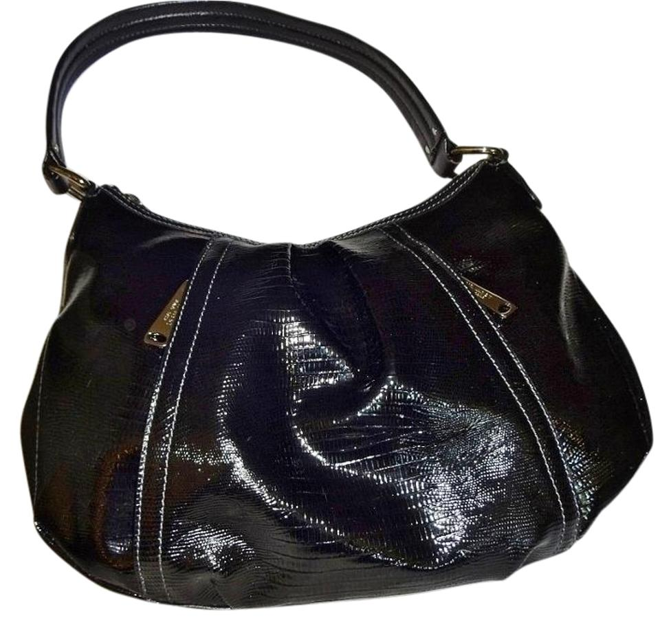 Nine west lizard grain shoulder black patent leather hobo bag jpg 960x902  Black hobo lizard 3e31212f6b