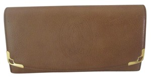 Cartier CARTIER BROWN PEBBLE LEATHER BIFOLD WALLET MADE IN FRANCE