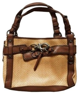 Francesco Biasia Satchel in Tan and Brown