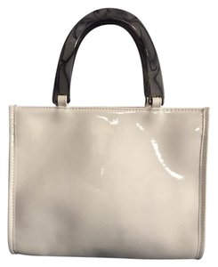 Neiman Marcus Carry On Handbag Clutch Tote in Ivory
