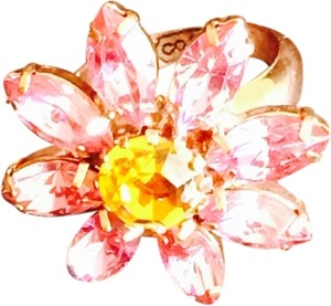 Coach Pink Flower Coach Ring