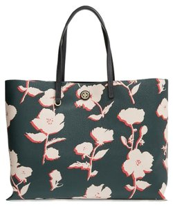 Tory Burch Tory Kerrington Tote in Posies English/Green