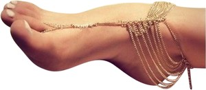New Sexy Gold Tone Ankle Toe Bracelet
