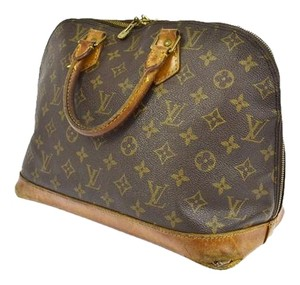 Louis Vuitton Speedy Alma Satchel in brown