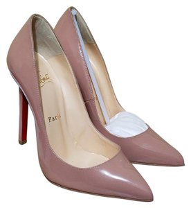 Christian Louboutin Pigalle 120mm Patent Nude Pumps
