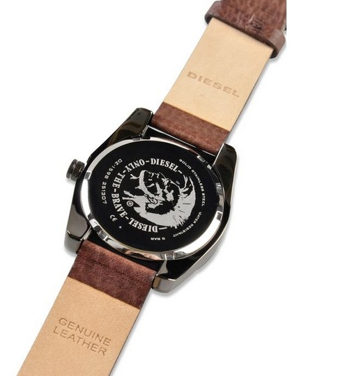 Diesel Diesel Watch, Men's Brown Textured Leather Strap 44mm DZ1598
