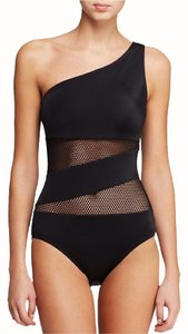 DKNY DKNY mesh effect one shoulder swimsuit size 12