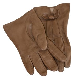 Sermoneta Gloves Sermoneta Taupe bow gloves