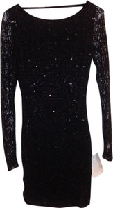 Arden B. Longsleevebodycon Sequin Bodycon Openback Dress