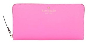 Kate Spade Leather Rouge Pink Clutch