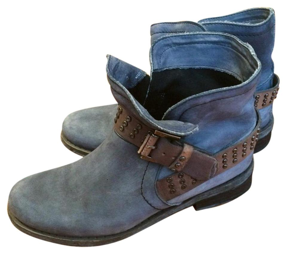 Steven by Steve Suede Madden Blue Suede Steve Leather Boots/Booties bd599a