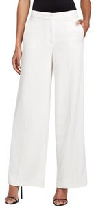 Dylan Gray Wide Leg Trousers Flare Pants White