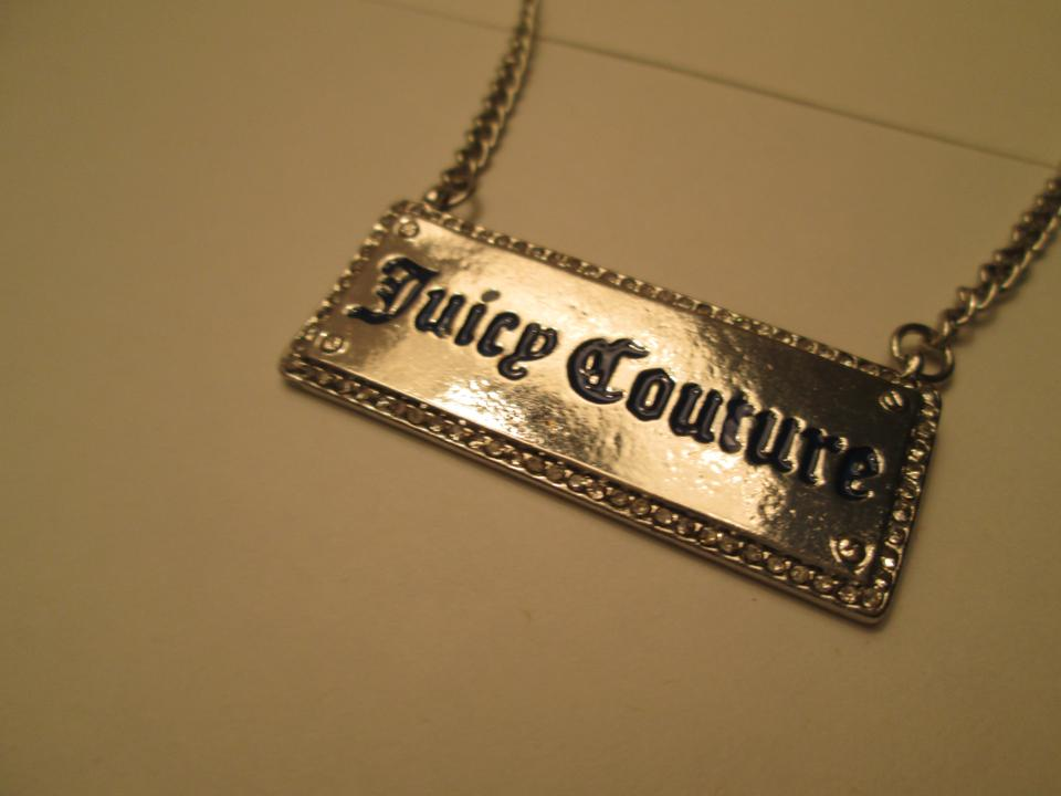 Juicy couture brand new necklace silver color costume for Juicy couture jewelry necklace