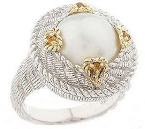 Judith Ripka Judith Ripka Sterling and 14K Clad White Cultured Mabe' Pearl Ring - Size 5