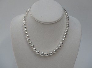 Tiffany & Co. Tiffany & Co Graduated Silver Bead Necklace 16