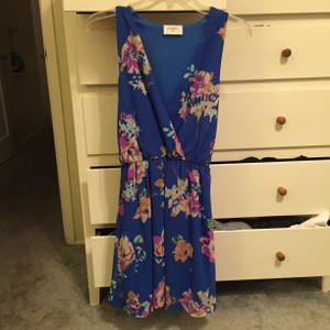 Modcloth short dress Blue flower on Tradesy