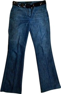 Express Dress Pants Pants Denim Boot Cut Jeans-Dark Rinse