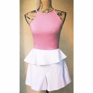 Nordstrom Peplum Summer Girly Preppy Dress Shorts White