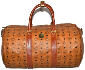 MCM Carry On Luggage Suitcase Duffle Brown Travel Bag
