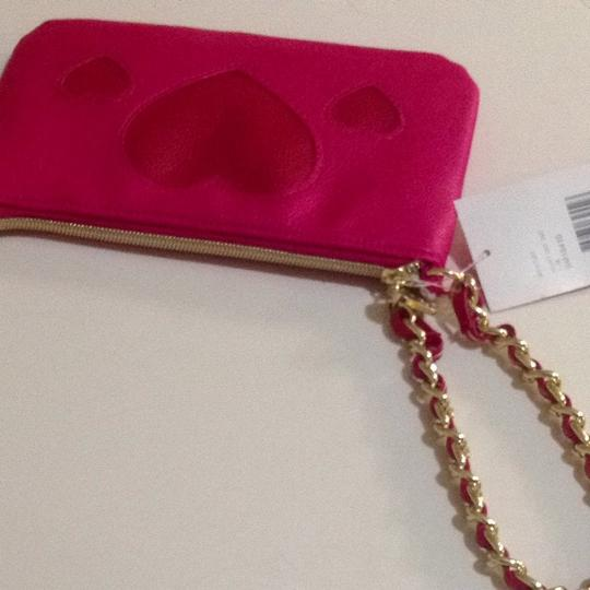 Betsey Johnson New Pink Red Heart Hearts Wristlet
