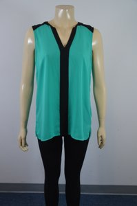 Vince Camuto Top GREEN/BLACK