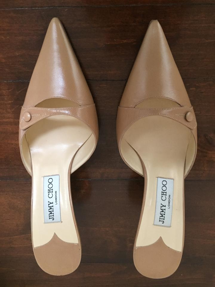 LADY Jimmy Customer Choo Brown (Camel) Mules/Slides Customer Jimmy first ed6d4e