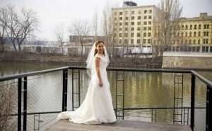 Winter White Medium Double Layer with Rhinestones Bridal Veil