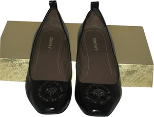 DKNY Black Patent Leather Flats