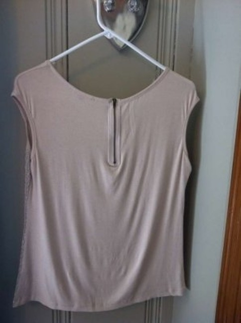 ISSI Neutral Versatile Day To Night Soft Zipper Detail Top Beige/Mettalic