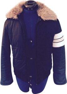 Juicy Couture Designer Bomber Puffy Coat Faux Fur Jacket