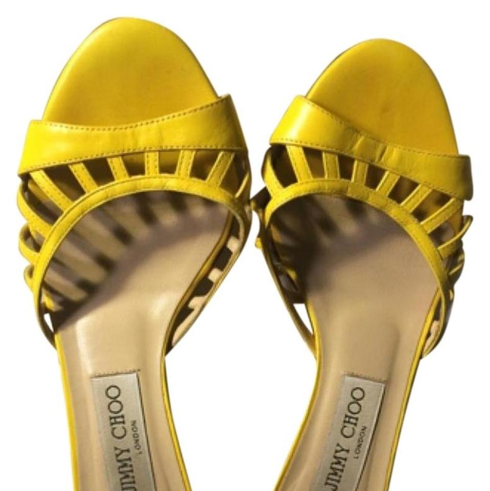 Jimmy Pumps Choo Yellow Kitten Heel Pumps Jimmy adc418