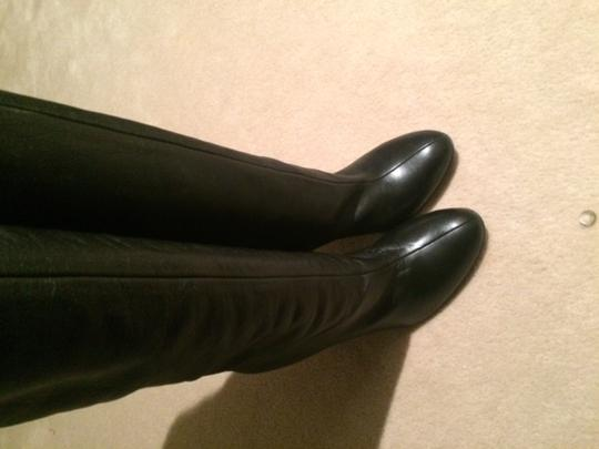 Max Mara Designer Knee High Heels Runway Black Boots