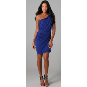 Cut25 One Ultra Mini Draped Dress