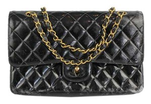 Chanel Maxi Double Flap Patent Shoulder Bag