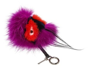 Fendi Fendi Purple and Red Oret Bag Bug Plush Key Chain