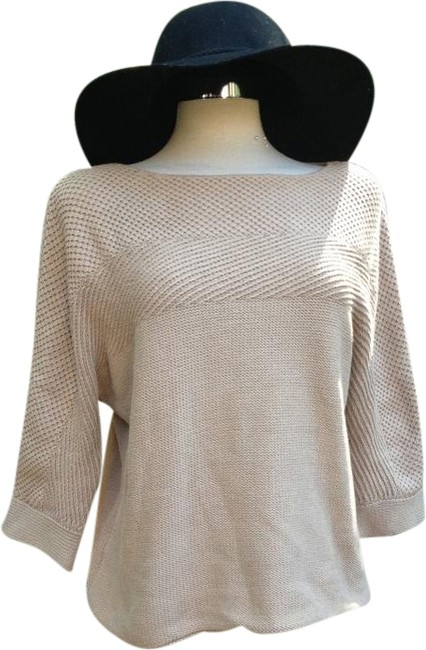 Preload https://item4.tradesy.com/images/kate-hill-taupe-camel-beige-nude-dolman-slouch-sweaterpullover-size-petite-8-m-1577343-0-0.jpg?width=400&height=650